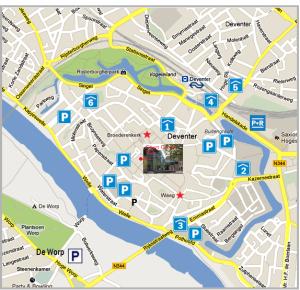 Geert Groote Huis en parkeerplaatsen Deventer